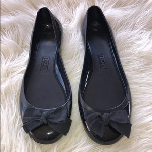J. Crew jelly flat shoes